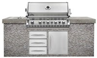Bipro665rbnss Napoleon Built-in Grill Natural Gas 38 86000 Btu 5 Burner Ss