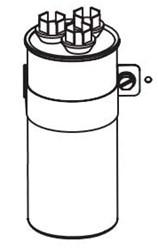 01-0024 Nordyne Round 10 Mfd 370 Volts Run Capacitor CAT328,622133,663132170678,621435,32801734,10370,37010,621435,663132198757