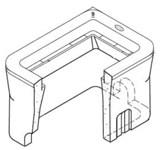 B09 19.75 X 14.312 X 12 Concrete Meter Box Only CAT663,B09,CMB,
