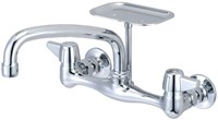 0048-ua1 Central Brass Ada Pc Lf 7-7/8 To 8-1/8 Centerset 2 Hole 2 Handle Kitchen Faucet CAT152,CW8,48UA1,CEN48UA1,CWM8,15101355,49A,0048UA1,48UA1,15203656,763439003409,30763439003400