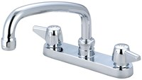 0125-a Central Brass Ada Pol Chrome Lf 6 In Centerset 3 Hole 2 Handle Kitchen Faucet CAT152,125A,0125A,15200021,15205701,763439012128,30763439012129