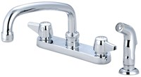 0126-a Central Brass Ada Pc Lf 6 Centerset 4 Hole 2 Handle Kitchen Faucet Side Spray CAT152,CL349,763439012258,30763439012259