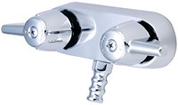 0206 Central Brass Polished Chrome Ada 2 Hole 2 Handle Leg Tub Faucet CAT152,0206,763439013187,CL349,763439013187,CEN206,30763439013188