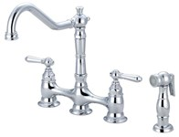 2am501 Americana Series Ada Pvd Pol Chrome Lf 8 In Centerset 4 Hole 2 Handle Kitchen Faucet Side Spray CAT122,2AM501,763439596789,2AM501