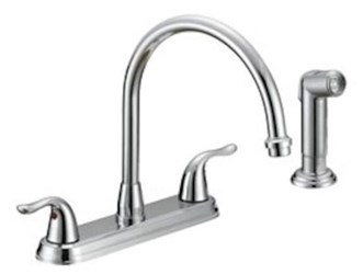 P4b-260c Matco Ada Pol Chrome Lf 8 In Centerset 4 Hole 2 Handle Kitchen Faucet With Matching Spray CATMATFPL4,P4B-260C,82647146938,P4B260C,MSF,MNKSF,2HKSF,KSF,BL-260C,082647139411,LEAD FREE,BL260C,P4B260C,MATBL260C,082647146938,