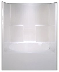 G6042tshsl Aquarius White 5 Left Hand Acrylic Tub/shower Combo CATPRA,AQTS42,G6042TSL,AQTS,794644202578