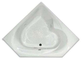 Rn6060to Aquarius Bathware White Acrylic 59-3/4 X 59-3/4 X 20-3/4 Center Soaker Tub CATPRA,AQ6060TO,RN6060TO,794644238669