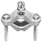 19bz Peco 1/2 To 1 Brass Plated Clamp