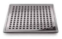 88.100.01 Qm 4 X 4 Satin Stainless Steel Grate/abs Base Shower Drain CATQM,856385005006