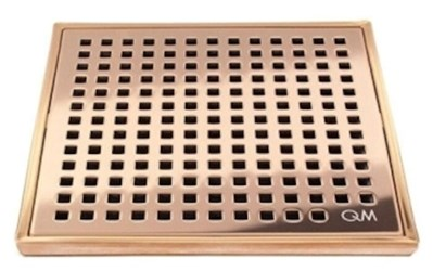 88.100.05 Qm 4 X 4 Bronze Stainless Steel Grate/abs Base Shower Drain CATQM,856385005044