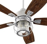 13525-9 Galveston Patio 52 Ceiling Fan 5126 Cfm Outdoor Galvanized Body/walnut Blade