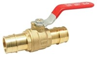 1-1/2 400# Wog*, Brass Body, Regular Port, Nbr O-ring Packing, For Use With Pex Tubing, Barb X Barb Ends, Blow-out Proof Stem, F-1960 CAT220RW,5015AB,670779703176,5015AB112,WBVJ,UBVJ