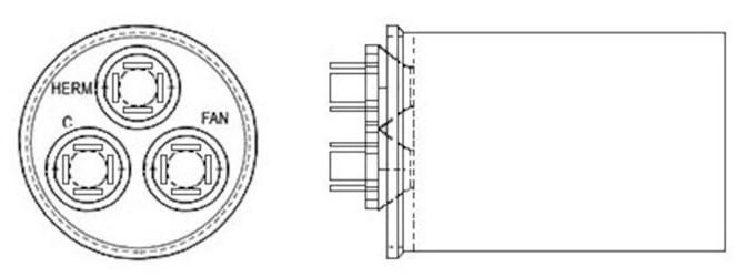 43-25133-05 Protech Round 45/3 Mfd 370 Volts Capacitor CAT330R,432320427,LB30DC,LB36DC,999000047490,662766142730,33086420,33093490,440453,453440,662766275346
