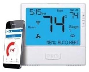T855i Protech Pro1 Heat Pump Multi Stage 3 Heat/2 Cool Programmable Thermostat CAT330PR,PRO1 WIFI,T855I,662766545838