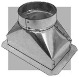 241f485 Royal Metal 4 X 8 X 5 30 Gauge Ceiling Register Boot With Flange