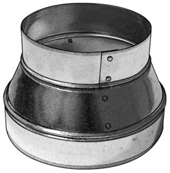265108 Royal Metal 10 X 8 26 Gauge No Crimp Reducer CAT342A,062650108,687384279040,66108,SR108,STAN66108,RHS66108,R108,R108RED,R106R,DR108,00848605017432
