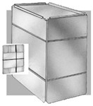 301r4202436 Royal Metal 20 X 24 X 36 28 Gauge R4 Insulated Plenum CAT342A,99B-202436,99B202436,99B,P202436,301,STAN99B202436,ROY301R4202436,RPL24,RPL36,RHS99B202436,