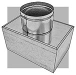 501845 Royal Metal 8 X 4 X 5 Astm A653 Cs Type B Steel R4 Insulated Register Box