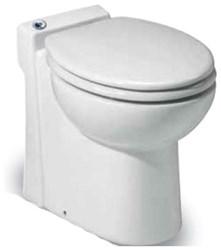 023 Saniflo Sanicompact White Porcelain 1.28 Gpf Floor Upflush Toilet CATSANF,023,759370000231,SFP,SAN023