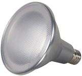 S9441 Satco Par38 Led 1200 Lumens 3000k E26 Medium Base Silver Light Bulb CAT766,S9441,SATS9441