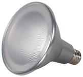 S9457 Satco Par38 Led 1150 Lumens 3000k E26 Medium Base Silver Light Bulb CAT766,S9457,045923094576,