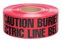 Sp-ut310 3 X 1000 Red Caution Buried Elec Line U/g Tape CAT761,SPUT310,SP-UT310,078103581486,78103581486