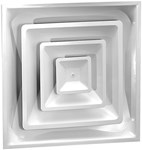 03980012cw 1301s 24 X 24 Bright White Steel Diffuser CAT350,LIG12,053713927355