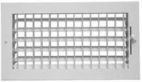 01261006cw 220v 115vm 10 X 6 Bright White Steel Register CAT350,08760336,115106,115VM106,SEL115VM106,115VM,220V106,220106,999000007759,220V,1261006CW,RG90,053713873591