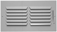03401008cw 601-hm 10 X 8 Bright White Enamel Steel 1-way Register CAT350,053713911514,181HM,601HM108,601HM,3401008CW,35010942,601108