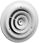 01790012cw Airmate 800 12 Bright White White Steel Ceiling Diffuser CAT350,053713903731,08750606,11212,SEL11212,112,80012,35018704