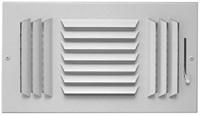 06851010cw A603-m 10 X 10 Bright White Enamel Aluminum 3-way Register CAT350,053713951596,A183M1010,A183M,A603M1010,35019484