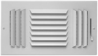 06851208cw A603-m 12 X 8 Bright White Enamel Aluminum 3-way Register CAT350,053713951695,A183M128,A183M,A603M128,35019478