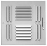 06861212cw A604-m 12 X 12 Bright White Enamel Aluminum 4-way Register CAT350,053713952050,A184M1212,A184M,A604M1212,35019469