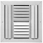 07590606cw E404m 304m 6 X 6 Bright White Extruded Aluminum 4-way Register CAT350,304M66W,30466W,664W,SEL304M66W,304M,053713989643