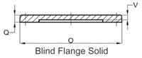 Bdf8 8 Blind Flg C110 CAT683F,BF8,SIGMBDF8,BDF8,BLIND FLANGE,FDIFLGB08,FDI,