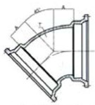 Ssb 12 C153 Di Mj X Mj 45 Elbow Mechanical Joint L/acc CAT683,DMB1245,IMJ4512,CMJB4512,68300340,099956,670610099956,MJ4512,TYL099956,MFGR VENDOR: SIGMA,PRCH VENDOR: SIGMA,MFGR VENDOR: SIP,PRCH VENDOR: SIP,MFGR VENDOR: SIP,PRCH VENDOR: SIP,
