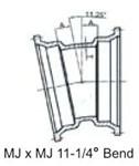 Bend 3 C153 Di Mj X Mj 11-1/4 Mechanical Joint