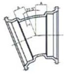 Ssb 3 C153 Di Mj X Mj 22-1/2 Elbow Mechanical Joint L/acc