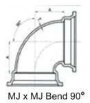 Ssb 4 C153 Di Mj X Mj 90 Elbow Mechanical Joint L/acc CAT683,IMJLN,IMJ90N,DMB490,CMJB9004,68300205,100133,670610100133,MJLN,TYL100133,D90N,FDIMJ9004,FDI,