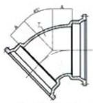 Ssb 6 C153 Di Mj X Mj 45 Elbow Mechanical Joint L/acc CAT683,IMJ45P,DMB645,CMJB4506,68300320,100195,670610100195,MJ45P,TYL100195,D45P,MFGR VENDOR: SIGMA,PRCH VENDOR: SIGMA,MFGR VENDOR: SIP,PRCH VENDOR: SIP,