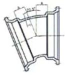 Ssb 8 C153 Di Mj X Mj 22-1/2 Elbow Mechanical Joint L/acc CAT683,DMB822,IMJ22,CMJB2208,IMJ228,68300470,100256,670610100256,MJ228,TYL100256,D228,