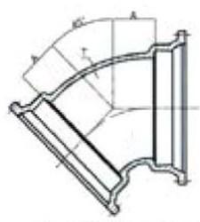 Ssb 8 C153 Di Mj X Mj 45 Elbow Mechanical Joint L/acc CAT683,68300330,DMB845,CMJB4508,IMJ458,68300331,100270,670610100270,MJ458,TYL100270,D458,MFGR VENDOR: SIGMA,PRCH VENDOR: SIGMA,MFGR VENDOR: SIP,PRCH VENDOR: SIP,