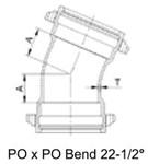 Dpb822 Sigma 8 C153 Ductile Iron 22-1/2 Elbow Push-on X Push-on Bends