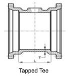 Ssb 3 C153 Di Mj X Mj X 2 In Tapped Tee Mechanical Joint L/acc