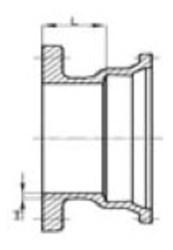 Ssb 6 C153 Di Mj X Flanged Adapter Mechanical Joint L/acc CAT683,MFA6,IMJFAP,68300735,EMFA6,EMFA6,SIGEMFA6,DFAP,
