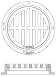 Mh1824g Sigma 24 Round Drainage Pipe Ring & Cover CAT686I,MH1824G,CIG24,RF24,RFG24,IFG24,FG24,CIFG24,RG24,RFG,
