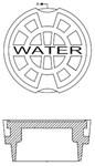Vb2600w Sigma 5-1/4 Cast Iron Water Cover CAT686I,VB2600W,