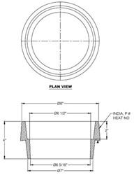 Vb2602 Sigma 5-1/4 In X 2 In Cast Iron Valve Box Riser CAT686I,VBRK,VBR,VB2602,VB2602,68620045,