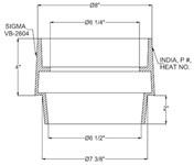 Vb2604 Sigma 5-1/4 In X 4 In Cast Iron Valve Box Riser CAT686I,VBRN,VBR,68620060,VB2604,