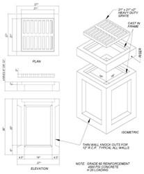 18x18x30 18 X 18 X 30 Concrete Catch Basin W/ Grate CAT663,18X18X30,